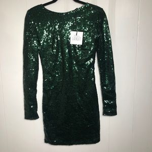 Womens Green Sequins Dress. NEW. Small NEW/tags
